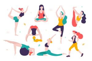 women-doing-sports-different-poses-yoga